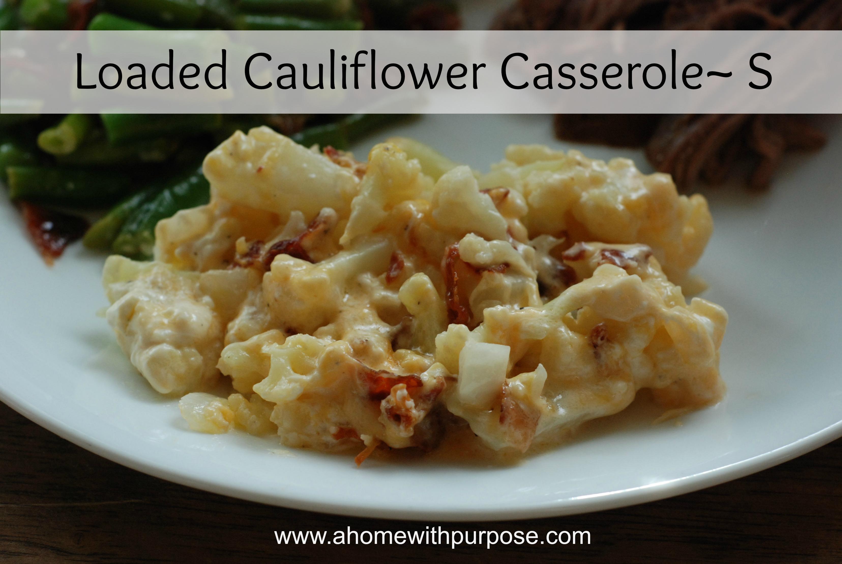 cheese bacon cauliflower casserole