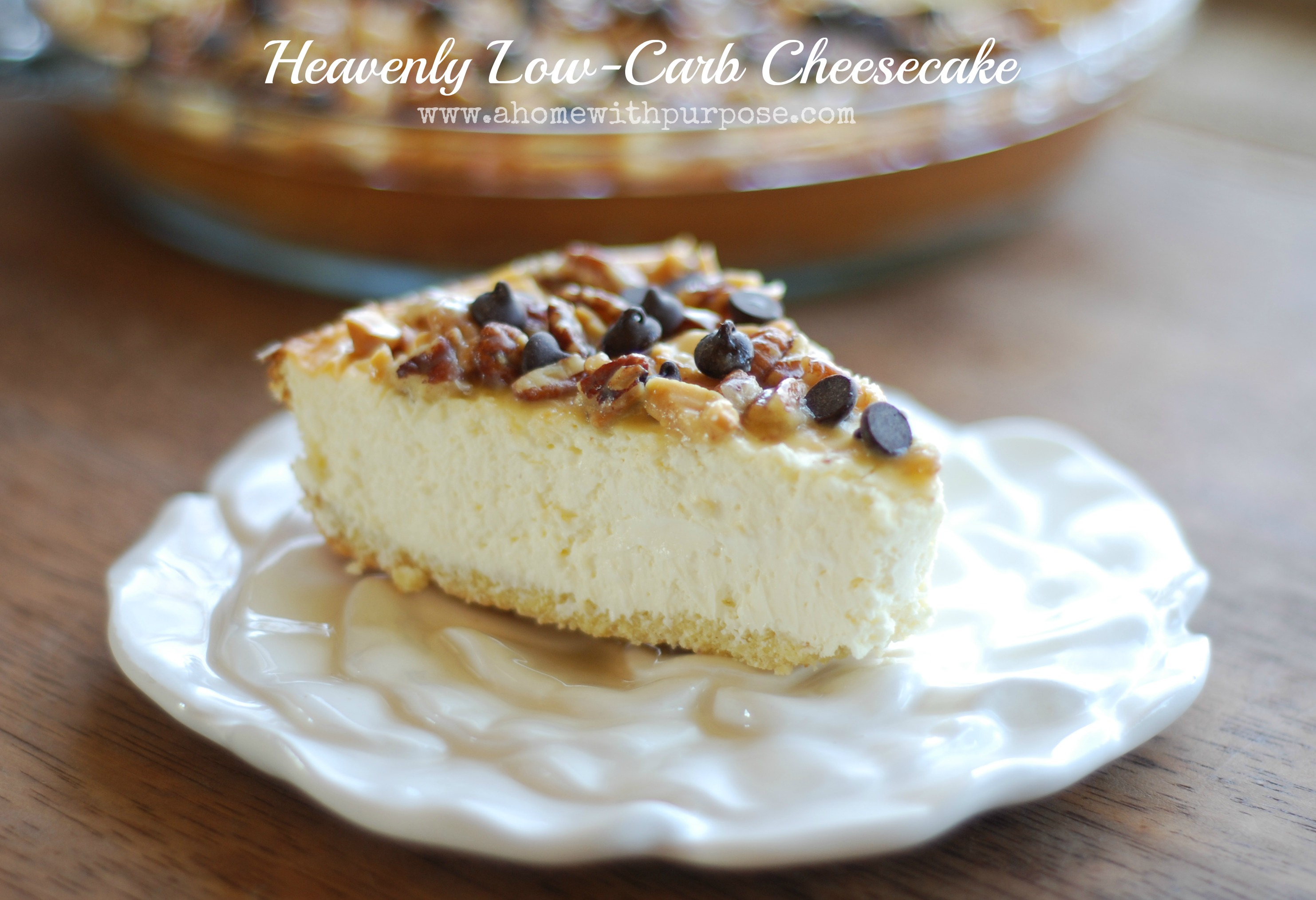 heavenly low carb cheesecake a home with purpose. Black Bedroom Furniture Sets. Home Design Ideas